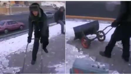 Strada ghiacciata? Ecco la soluzione geniale e veloce