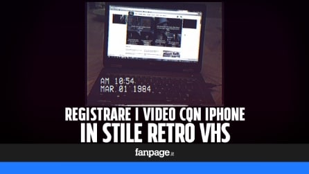 Registrare i video con iPhone e Android in stile retrò VHS