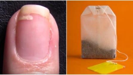 Come riparare un'unghia spezzata con una bustina di tè