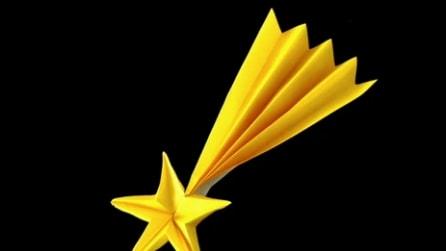 Origami: stella cometa per Natale