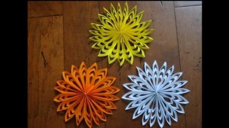 Fiocchi Di Neve Di Carta Fai Da Te : Come fare un fiocco regalo con le strisce di carta