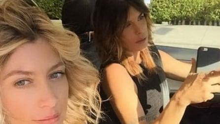 Maddalena Corvaglia in visita alla Canalis a Los Angeles: le due ex veline sono di nuovo insieme