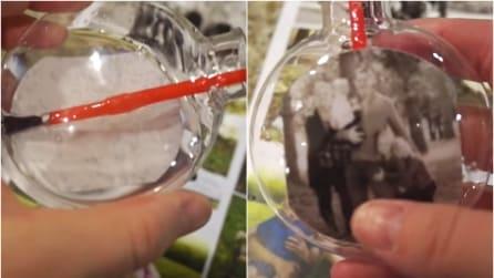 Come creare palline di Natale personalizzate con foto dentro