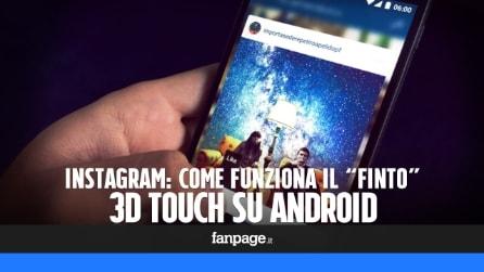 """Come funziona il """"finto"""" 3D Touch di Instagram per Android"""