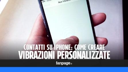 Come creare vibrazioni personalizzate per i contatti in iPhone