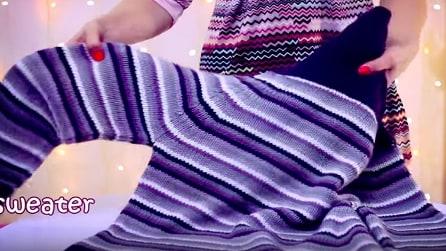 Come ottenere un perfetto kit per l'inverno da un vecchio maglione