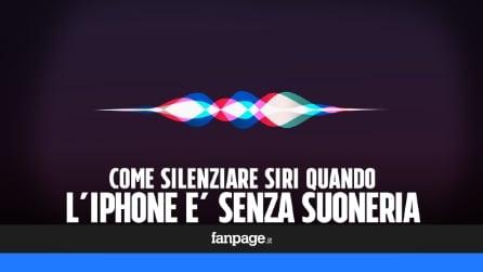 Come silenziare Siri quando l'iPhone è senza suoneria