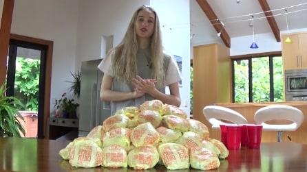 La sfida dei 100 Cheeseburger: ecco quanti riesce a mangiarne