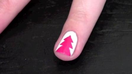 Come realizzare un albero di Natale sulle unghie
