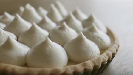 La ricetta della crostata al limone con le meringhe