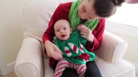 È il suo primo Natale: quello che fanno mamma e papà per la piccola vi scioglierà il cuore