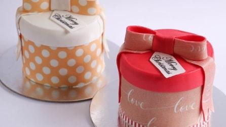 La torta a forma di pacco regalo: l'idea perfetta per Natale