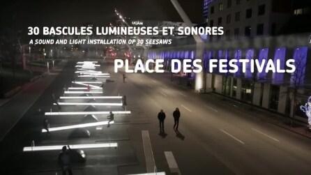 Luminoterapia nel Quartiere degli spettacoli di Montreal