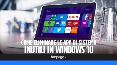 Addio Bloatware: come disinstallare le app inutili in Windows 10