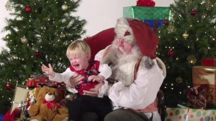 La foto con Babbo Natale: ecco il momento più tragico per i bambini