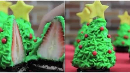 Come realizzare un albero di Natale con una fragola
