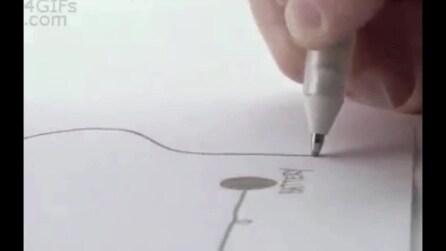 Disegna un circuito su un foglio e riesce ad accendere una luce