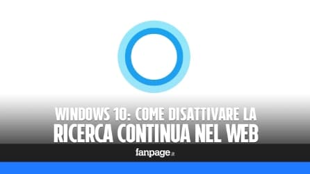 Come disattivare la ricerca continua nel Web in Windows 10