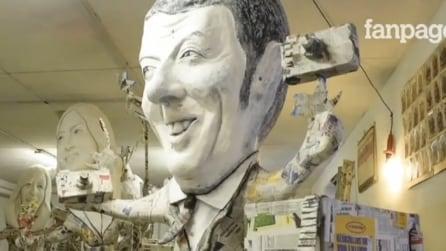 """Sui carri di Viareggio salgono Renzi, Salvini, Mattarella e le """"ministre"""""""