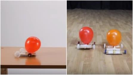 Come fare una macchina giocattolo con tappi, cannucce e palloncini