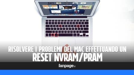 Reset di PRAM (o NVRAM) per velocizzare il Mac e correggere gli errori