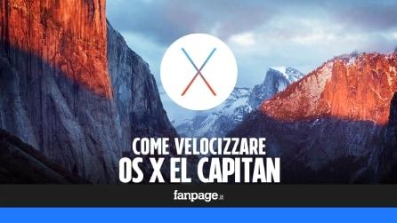 Come velocizzare Mac OS X El Capitan