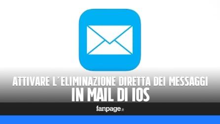 Attivare l'eliminazione diretta dei messaggi in Mail per iPhone e iPad