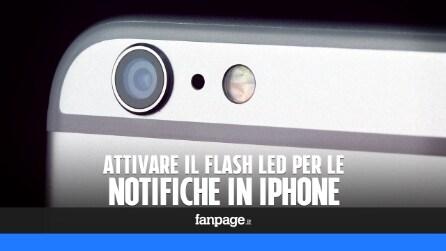 Attivare il flash led in iPhone per gli avvisi e le notifiche