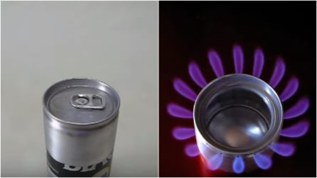 Come fare un fornello con lattina e alcool