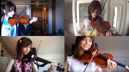 Tutti i miglioramenti al violino giorno per giorno: ragazza si filma per 2 anni interi