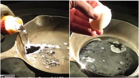"""Mercurio in una padella: la """"reazione"""" dopo aver messo un uovo"""