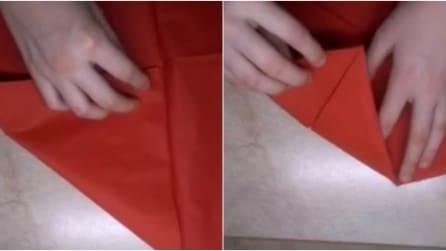 Semplici pieghe al fazzoletto per un risultato unico