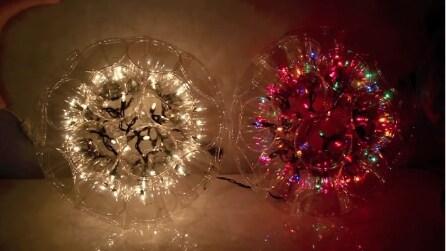 Come realizzare una sfera di luci con i bicchieri di plastica