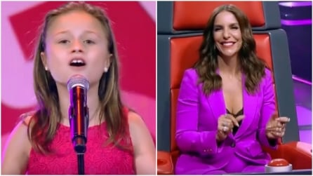 La piccola canta e i giudici restano sorpresi dalla sua voce