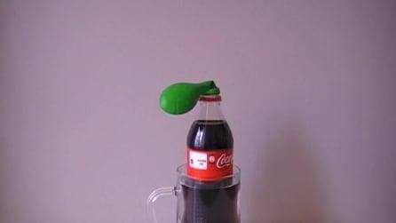 Che succede se metti un palloncino su una bottiglia di Coca Cola