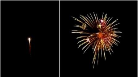 Sembra un normale fuoco d'artificio ma quando scoppierà, non crederete ai vostri occhi