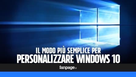 Come personalizzare Windows 10
