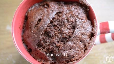 Mug Cake: come fare la torta nella tazza in soli 5 minuti