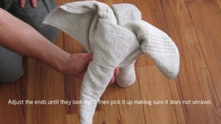 Come realizzare un elefante con un asciugamano