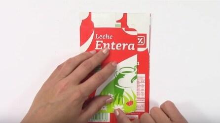 Come realizzare un porta cellulare con la busta del latte