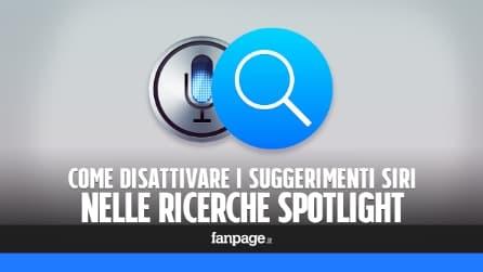 Disattivare i suggerimenti Siri per velocizzare Spotlight in iPhone e migliorare la privacy