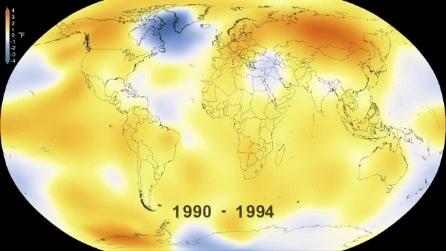 Il video della NASA che deve far riflettere: com'è salita la temperatura negli ultimi 50 anni