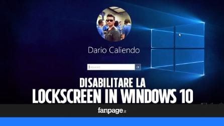 Come disattivare la schermata di blocco in Windows 10