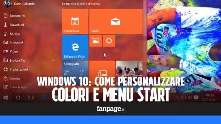 Personalizzare i colori (e la grafica) delle finestre e del nuovo Start in Windows 10