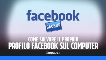 Come salvare sul computer un backup del profilo Facebook