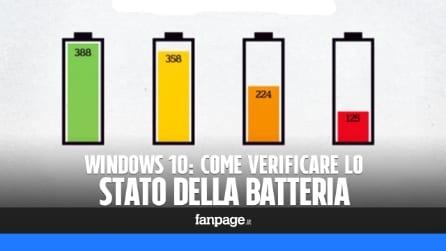 Controllare lo stato della batteria in Windows 10