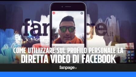 Come avviare una diretta streaming video Facebook nei profili personali