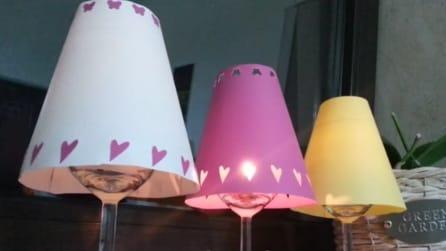 Come realizzare una lampada con i bicchieri del vino