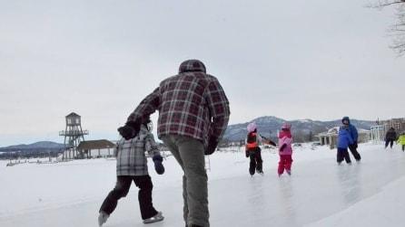 Non è una normale autostrada: 11km di solo ghiaccio per innamorarsi dell'inverno