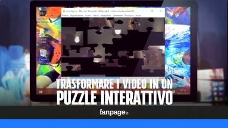Trasformare i video in un puzzle animato